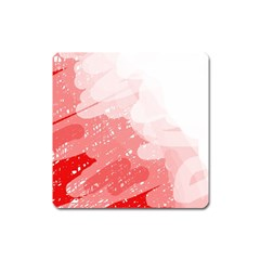 Red pattern Square Magnet