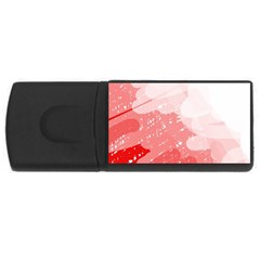 Red pattern USB Flash Drive Rectangular (1 GB)