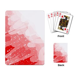 Red pattern Playing Card
