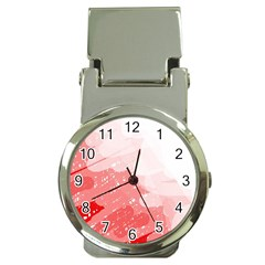 Red pattern Money Clip Watches