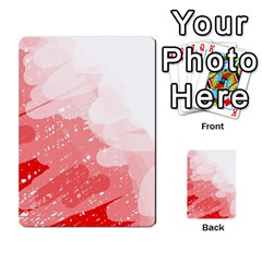 Red pattern Multi-purpose Cards (Rectangle)