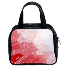 Red pattern Classic Handbags (2 Sides)