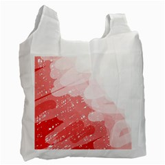 Red pattern Recycle Bag (Two Side)