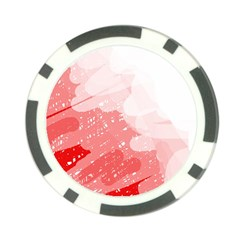 Red pattern Poker Chip Card Guards (10 pack)