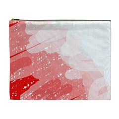 Red pattern Cosmetic Bag (XL)