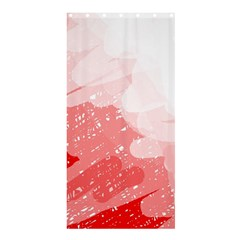 Red pattern Shower Curtain 36  x 72  (Stall)