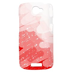 Red pattern HTC One S Hardshell Case