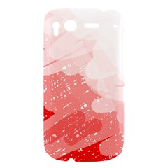 Red pattern HTC Desire S Hardshell Case