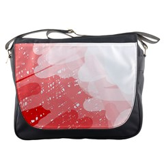 Red pattern Messenger Bags