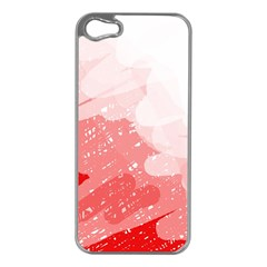 Red pattern Apple iPhone 5 Case (Silver)