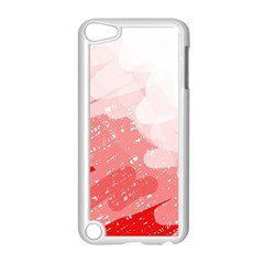 Red pattern Apple iPod Touch 5 Case (White)