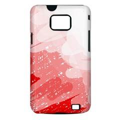 Red pattern Samsung Galaxy S II i9100 Hardshell Case (PC+Silicone)