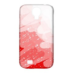 Red pattern Samsung Galaxy S4 Classic Hardshell Case (PC+Silicone)