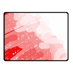 Red pattern Double Sided Fleece Blanket (Small)