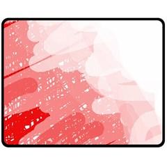 Red pattern Double Sided Fleece Blanket (Medium)