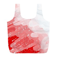 Red pattern Full Print Recycle Bags (L)
