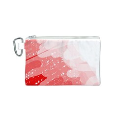 Red pattern Canvas Cosmetic Bag (S)