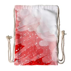 Red pattern Drawstring Bag (Large)