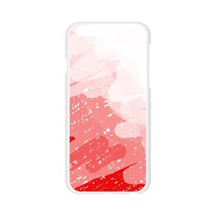 Red pattern Apple Seamless iPhone 6/6S Case (Transparent)