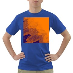 Orange and blue artistic pattern Dark T-Shirt