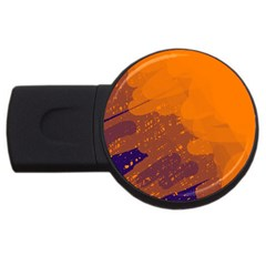 Orange and blue artistic pattern USB Flash Drive Round (4 GB)