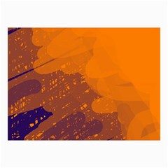 Orange and blue artistic pattern Collage Prints