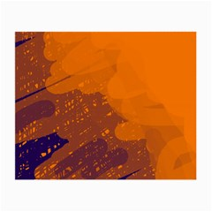 Orange and blue artistic pattern Small Glasses Cloth (2-Side)