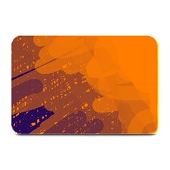 Orange and blue artistic pattern Plate Mats