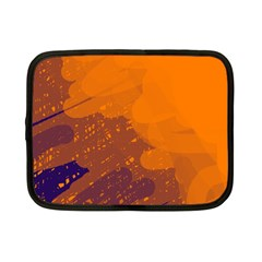 Orange and blue artistic pattern Netbook Case (Small)