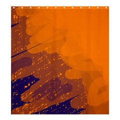 Orange and blue artistic pattern Shower Curtain 66  x 72  (Large)