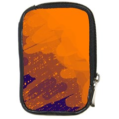 Orange and blue artistic pattern Compact Camera Cases