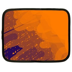 Orange and blue artistic pattern Netbook Case (XXL)