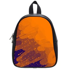 Orange and blue artistic pattern School Bags (Small)