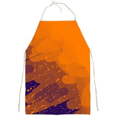 Orange and blue artistic pattern Full Print Aprons