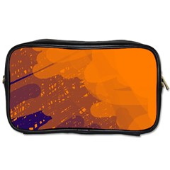 Orange and blue artistic pattern Toiletries Bags