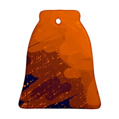 Orange and blue artistic pattern Ornament (Bell)