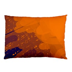 Orange and blue artistic pattern Pillow Case (Two Sides)