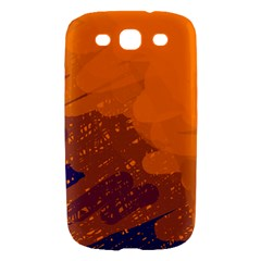 Orange and blue artistic pattern Samsung Galaxy S III Hardshell Case