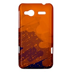 Orange and blue artistic pattern HTC Radar Hardshell Case