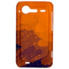 Orange and blue artistic pattern HTC Incredible S Hardshell Case