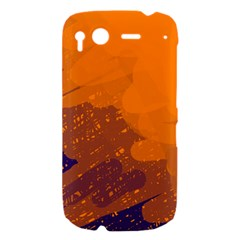 Orange and blue artistic pattern HTC Desire S Hardshell Case