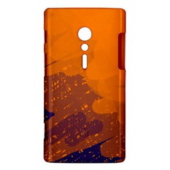 Orange and blue artistic pattern Sony Xperia ion
