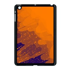 Orange and blue artistic pattern Apple iPad Mini Case (Black)