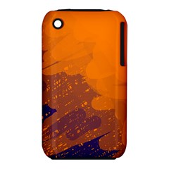 Orange and blue artistic pattern Apple iPhone 3G/3GS Hardshell Case (PC+Silicone)