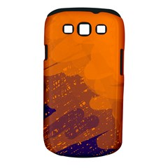 Orange and blue artistic pattern Samsung Galaxy S III Classic Hardshell Case (PC+Silicone)