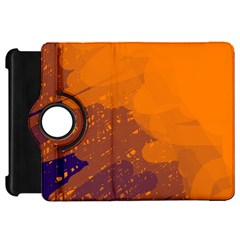 Orange and blue artistic pattern Kindle Fire HD Flip 360 Case