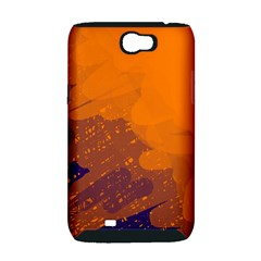 Orange and blue artistic pattern Samsung Galaxy Note 2 Hardshell Case (PC+Silicone)