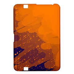 Orange and blue artistic pattern Kindle Fire HD 8.9