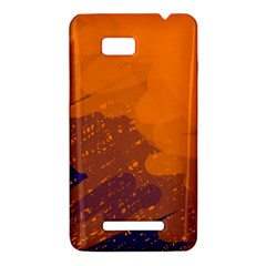 Orange and blue artistic pattern HTC One SU T528W Hardshell Case