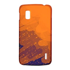 Orange and blue artistic pattern LG Nexus 4